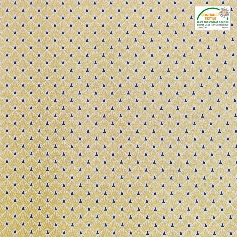 Coton imprimé écailles or
