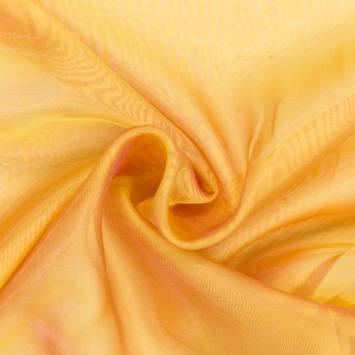 Voilage organza bicolore jaune et rose