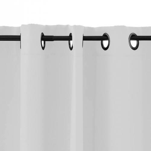 Rideau à oeillets obscurcissant blanc 135x250 cm
