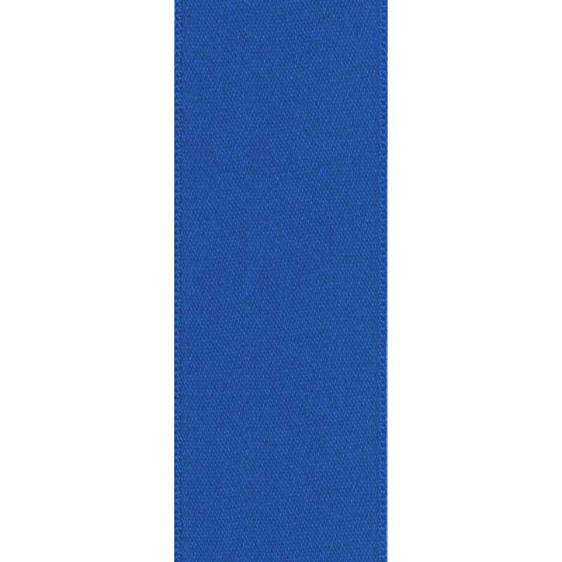 Ruban satin double face bleu 50mm