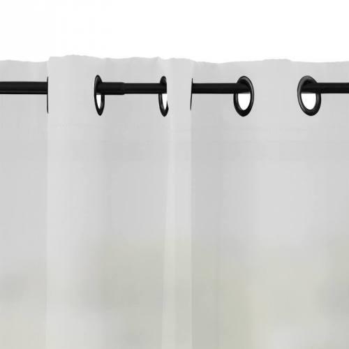 Rideau à oeillets microfibre blanc 135x250 cm