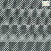 Coton imprimé éventails noirs et ocres