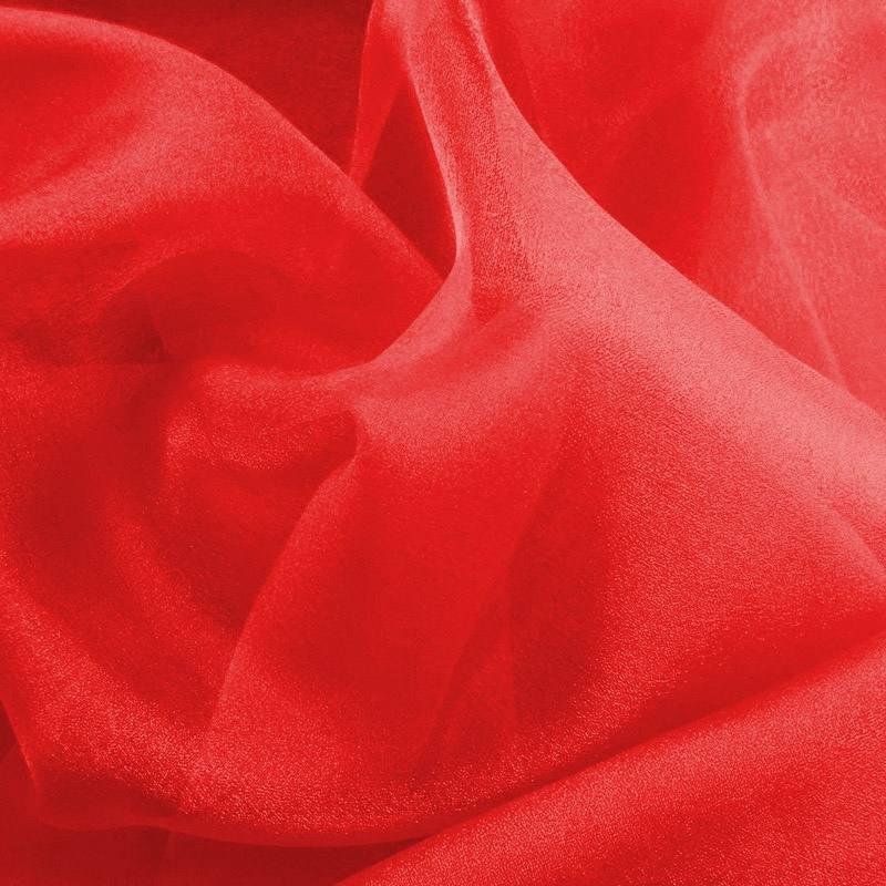 Organza rouge pas cher tissus price - Tissus rouge pas cher ...