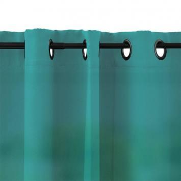 Rideau à oeillets microfibre bleu turquoise 135x250 cm