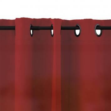 Rideau à oeillets microfibre rouge 135x250 cm