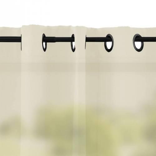 Rideau à oeillets microfibre écru 135x250 cm