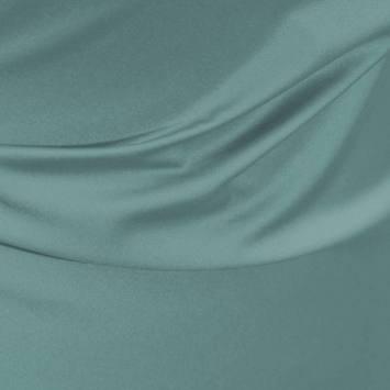 Satin microfibres royal vert d'eau