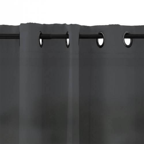 Rideau à oeillets microfibre anthracite 135x250 cm