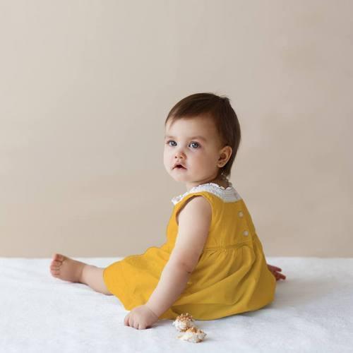 Voile de coton jaune