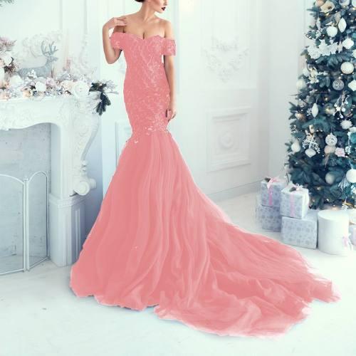 Organza bicolore rose et blanc