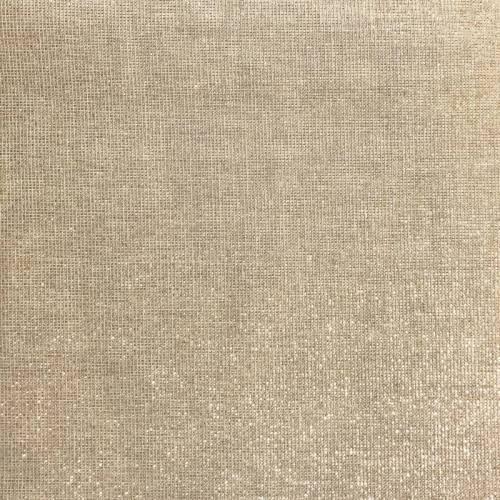 Toile aspect lin lurex or grande largeur