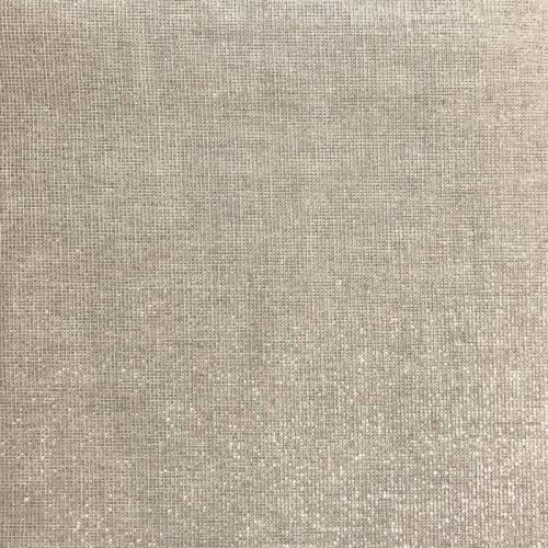 Tissu aspect lin pailleté argent grande largeur