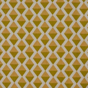 Toile polycoton imprimé losange jaune
