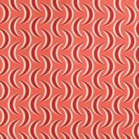 Toile polycoton imprimée lune rouge
