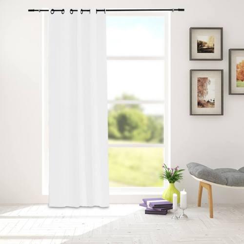 Tissu occultant non feu grande largeur blanc grisé