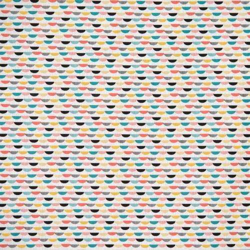 Coton blanc imprimé sohem