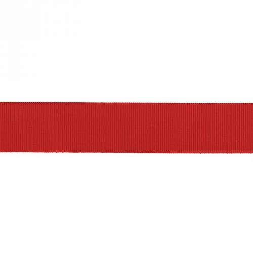 Ruban gros grain 25mm rouge
