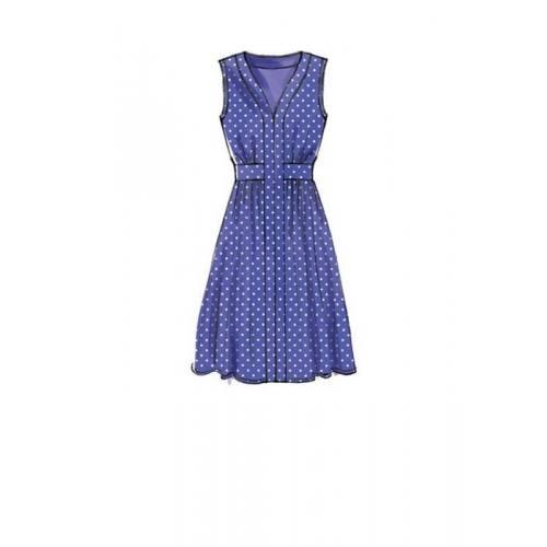 Patron McCall's M7624 : Robes pour jeune femme 34-42