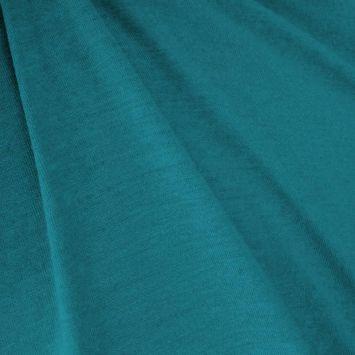 Jersey viscose uni bleu canard