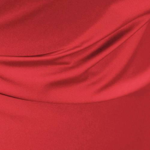 Satin microfibre royal rouge