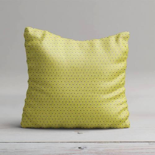 Coton vert anis petit motif asanoha blanc