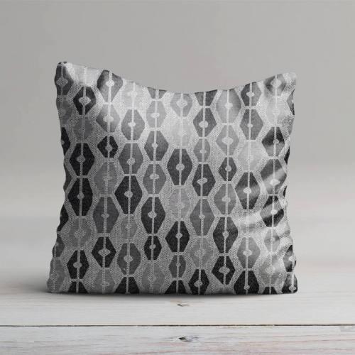 Jacquard losange gris et noir