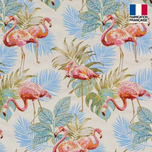 Jacquard flamant rose