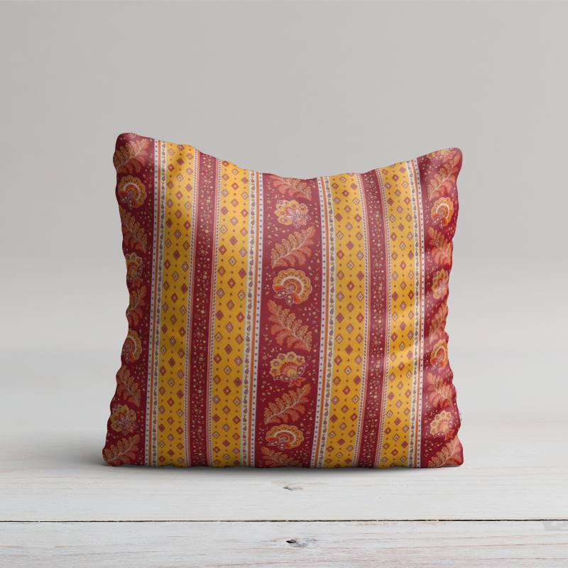 Tissu provençal rouge