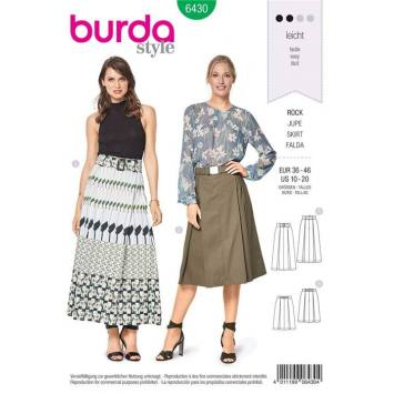 Patron Burda 6430 : Jupe Taille 36-46