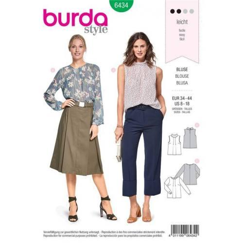 Patron Burda 6434 : Blouse Taille 34-44