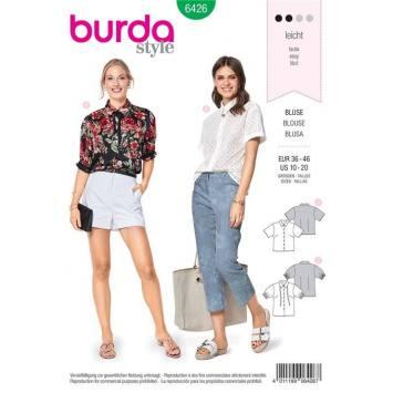 Patron Burda 6426 : Blouse Taille 36-46