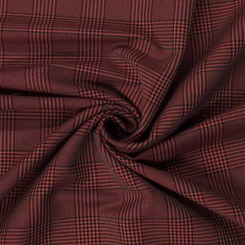 Tissu rouge à carreaux