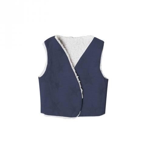 Jacquard bleu jean tissage étoile